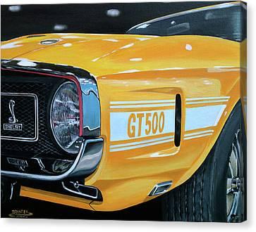 1969 Shelby Gt500 Canvas Print by Branden Hochstetler