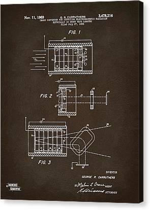 1969 Short Wave Electromagnetic Radiation Patent Espresso Canvas Print