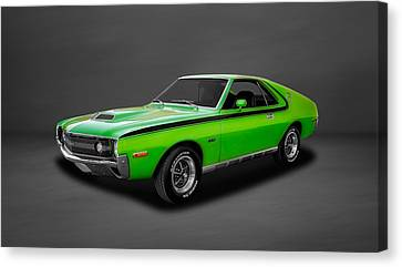 1970 Amc Amx 390 Cubic Inch 4-speed  -  70amcamx3 Canvas Print