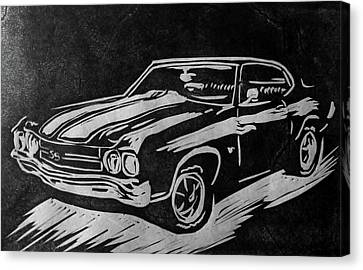 1970 Chevelle Canvas Print by Alisha Floy