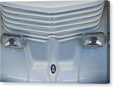 1970 Cord Royale Grille Hood Ornament Canvas Print by Jill Reger