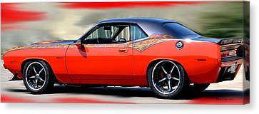 1970 Dodge Challenger Srt Canvas Print by Maria Urso