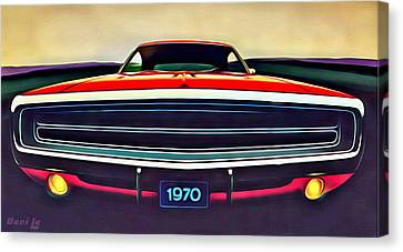 1970 Dodge Charger Canvas Print by Little Bunny Sunshine