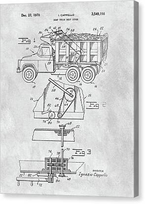 1970 Dump Truck Cover Patent Canvas Print by Dan Sproul