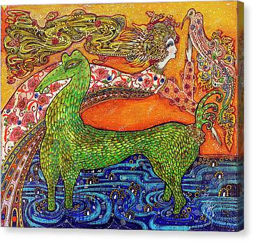 1970 Fantasy Canvas Print by Toller Cranston