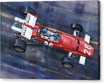 1970 Monaco Gp Ferrari 312 B Jacky Ickx  Canvas Print