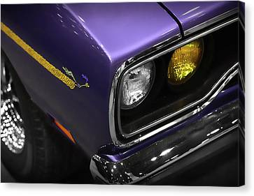 1970 Plum Crazy Purple Road Runner Canvas Print by Gordon Dean II