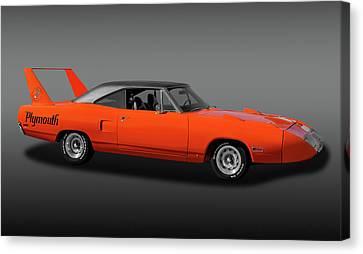 Canvas Print featuring the photograph 1970 Plymouth Road Runner Superbird  -  1970plyrrsuperbirdfa170528 by Frank J Benz