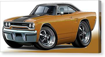 1970 Roadrunner Brown Car Canvas Print by Maddmax