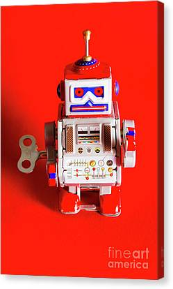 1970s Wind Up Dancing Robot Canvas Print by Jorgo Photography - Wall Art Gallery