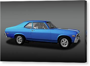 Canvas Print featuring the photograph 1971 Chevrolet Nova Super Sport 350   -  1971chevroletnovassfa170507 by Frank J Benz