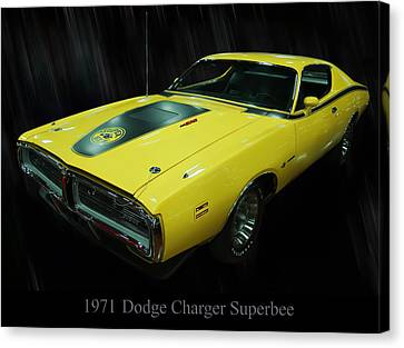 1971 Dodge Charger Superbee Canvas Print by Chris Flees
