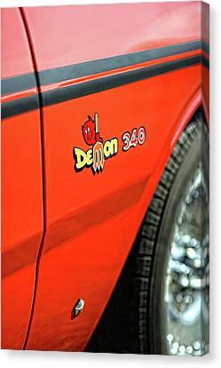 1971 Dodge Demon - Hemi Orange Canvas Print by Gordon Dean II