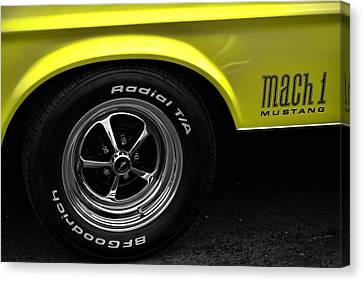 Yellow Cobra Canvas Print - 1971 Ford Mustang Mach 1 by Gordon Dean II