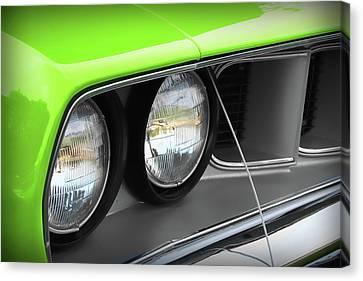 1971 Plymouth Barracuda Cuda Sublime Green Canvas Print by Gordon Dean II
