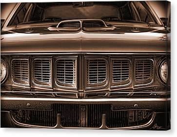 Horsepower Canvas Print - 1971 Plymouth 'cuda 440 by Gordon Dean II