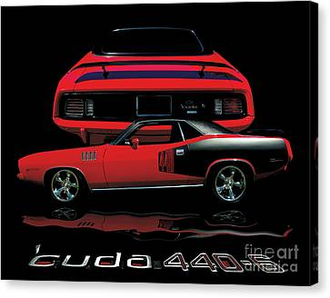 1971 Plymouth Cuda 440 Six Pack    Canvas Print