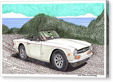 1971 Triumph T R 6 Canvas Print by Jack Pumphrey