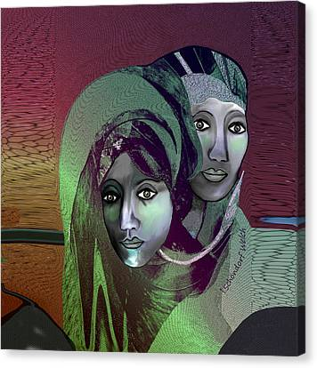 Canvas Print featuring the digital art 1972 - 0n A Gloomy Day - 2017 by Irmgard Schoendorf Welch
