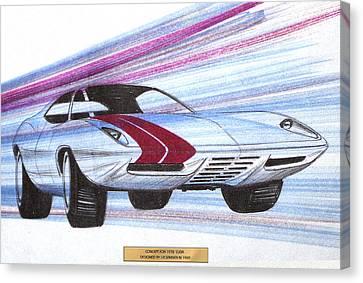 1972 Barracuda  Vintage Styling Design Concept Sketch Canvas Print by John Samsen