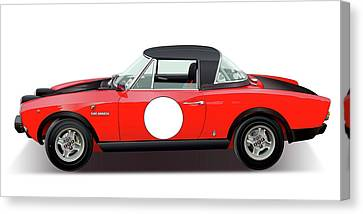 1972 Fiat 124 Spider Abarth Illustration Canvas Print by Alain Jamar