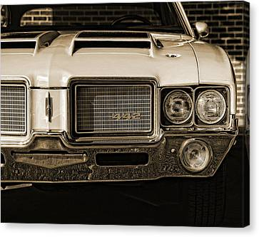 Gratiot Canvas Print - 1972 Olds 442 - Sepia by Gordon Dean II