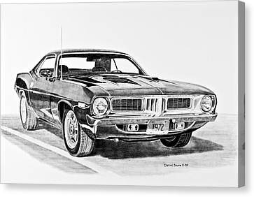 1972 Plymouth Barracuda Canvas Print by Daniel Storm