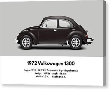 1972 Volkswagen 1300 - Custom Canvas Print