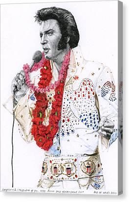 1973 Aloha Bald Headed Eagle Suit Canvas Print by Rob De Vries