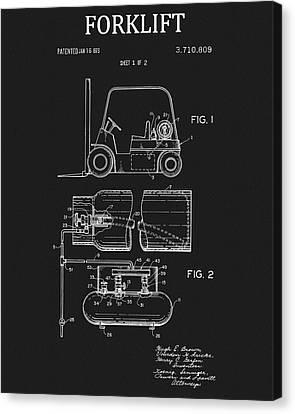 1973 Forklift Patent Canvas Print
