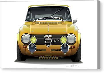 1974 Alfa Romeo Giulia Canvas Print by Alain Jamar