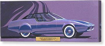 1974 Duster  Plymouth Styling Design Concept Sketch Canvas Print by John Samsen