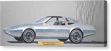1974 Duster  Plymouth Vintage Styling Design Concept Sketch  Canvas Print