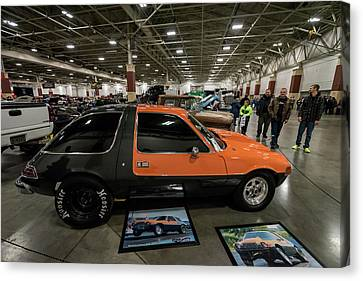 Canvas Print featuring the photograph 1975 Amc Pacer by Randy Scherkenbach