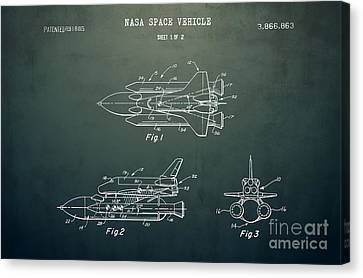 1975 Nasa Space Shuttle Patent Art 5 Canvas Print by Nishanth Gopinathan
