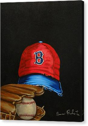 1975 Red Sox Canvas Print by Susan Roberts