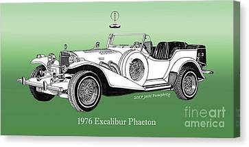 Transmission Canvas Print - 1976 Excalibur I I I Phaeton by Jack Pumphrey