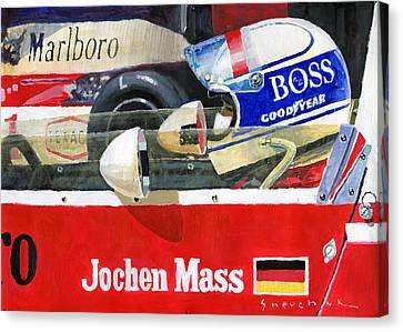 1976 Jarama Marlboro F1 Team Mclaren Jochen Mass Canvas Print