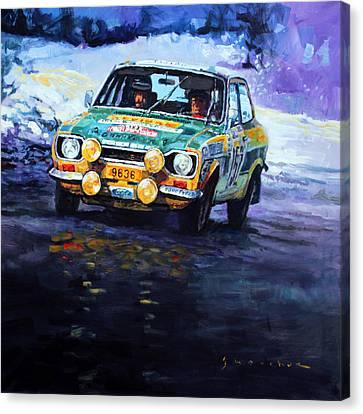 1977 Rallye Monte Carlo Ford Escort Rs 2000 #152 Beauchef Dubois Keller Canvas Print by Yuriy Shevchuk