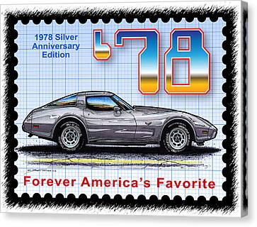 1978 Silver Anniversary Edition Corvette Canvas Print by K Scott Teeters
