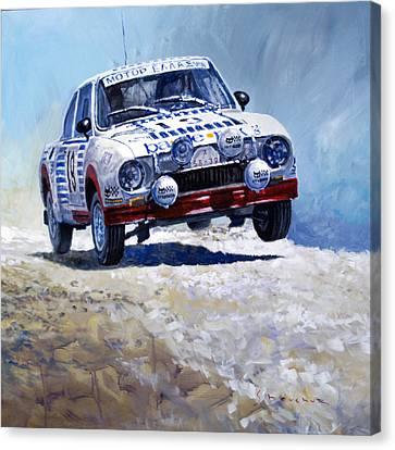 1978 Skoda 130 Rs #19 Rally Acropolis Haugland Canvas Print by Yuriy Shevchuk
