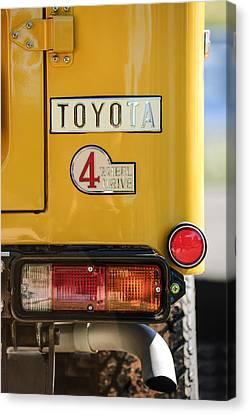 Cruiser Canvas Print - 1978 Toyota Land Cruiser Fj40 Taillight Emblem -1191c by Jill Reger