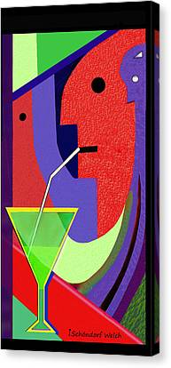 Canvas Print featuring the digital art 1979 - Party Pop 2017 by Irmgard Schoendorf Welch