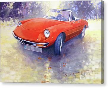 1980 Alfa Romeo Spider 2000 Veloce  Canvas Print by Yuriy Shevchuk