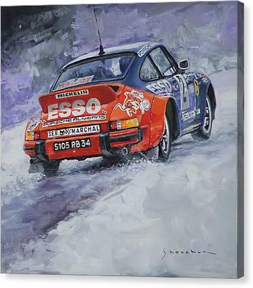 1980 Rallye Monte Carlo Porsche 911 Sc Hannu Mikkola  Canvas Print by Yuriy Shevchuk