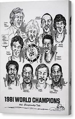 1981 Boston Celtics Championship Newspaper Poster Canvas Print by Dave Olsen
