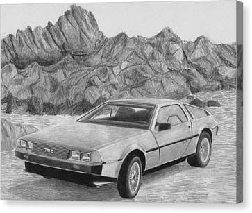 1981 Delorean Classic Car Art Print Canvas Print by Stephen Rooks