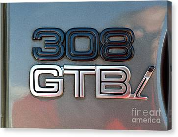 1981 Ferrari 308gtbi Badge Canvas Print by George Atsametakis