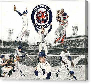 1984 Detroit Tigers Canvas Print by Chris Brown