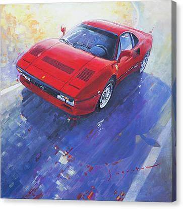 Red Ferrari Canvas Print - 1984 Ferrari 288 Gto by Yuriy Shevchuk
